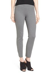 Halogenr Petite Women's Halogen Side Zip Ponte Ankle Pants Grey Dark Heather