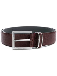Hugo Boss Classic Logo Buckle Belt Red