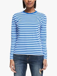 John Lewis Collection Weekend By Breton Stripe Top Blue White