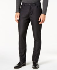 Ryan Seacrest Distinction Men's Slim Fit Black Dress Pants Created For Macy's Oxford