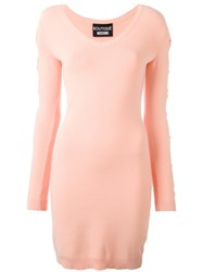 Boutique Moschino Cut Out Details Dress Pink Purple