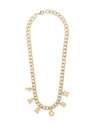 P.A.R.O.S.H. Logo Chain Necklace Gold