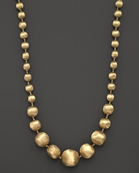 Marco Bicego 18K Yellow Gold Africa Graduated Bead Necklace 18 No Color