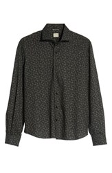 Culturata Print Tailored Fit Sport Shirt Black