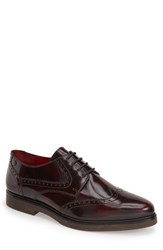 Men's Base London 'Mole' Wingtip Bordeaux Leather