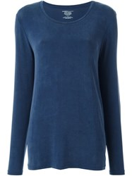Majestic Filatures Round Neck Jumper Blue