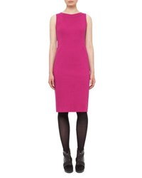Akris Punto Fitted Stretch Jersey Sleeveless Dress Pink
