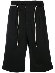 Maison Martin Margiela Contrast Trim Tailored Shorts Black