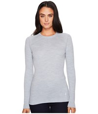 Smartwool Nts Mid 250 Crew Top Blue Ice Heather Long Sleeve Pullover