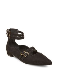Design Lab Lord And Taylor Mabel Buckle Trimmed Point Toe Flats Black