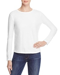 J Brand Crete Long Sleeve Tee White