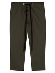 Marni Cotton Blend Drawstring Trousers Green