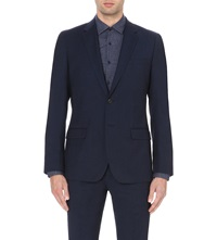 Reiss Lester Modern Fit Wool Jacket Blue