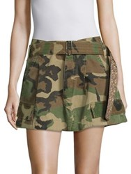 Marc Jacobs Belted Cargo Skirt Military Green