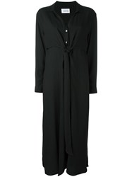 Libertine Libertine 'Effect' Maxi Shirt Dress Black