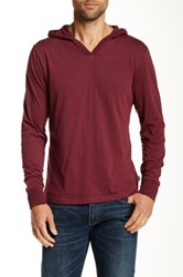 Threads For Thought V Neck Hoodie Red