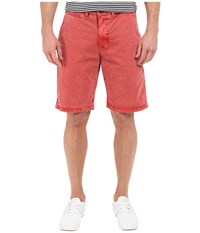 Lucky Brand Utility Plain Front Shorts Mineral Red Men's Shorts