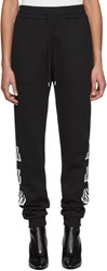 Alyx Black Visual Edition Colorblock Logo Lounge Pants