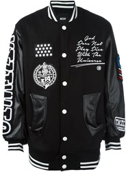 Ktz Embroidered Bomber Jacket Black