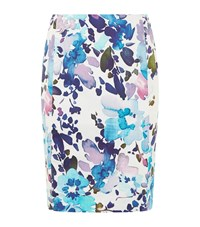 Reiss Demi Printed Skirt Female Blue