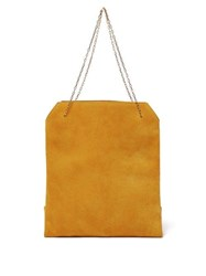 The Row Lunch Bag Leather Clutch Yellow