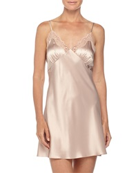 Neiman Marcus New Body Lace Trimmed Chemise Brulee