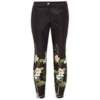 Ted Baker Hadas Secret Trellis Skinny Trousers Black