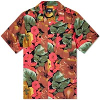 Stussy Watercolour Flower Shirt Orange