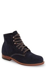 Wolverine Men's '1000 Mile' Plain Toe Boot Navy Suede