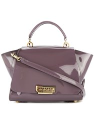 Zac Posen Eartha Iconic Soft Top Handle Convertible Backpack Bag Pink And Purple