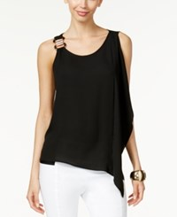 Thalia Sodi Hardware Flutter Front Top Only At Macy's Black