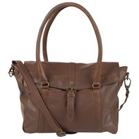 Fat Face Oiled Tote Bag Chocolate