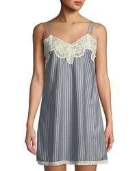 Morpho Luna Margot Striped Double Strap Chemise Multi Pattern