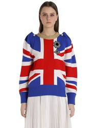 Gucci Union Jack Intarsia Wool Sweater
