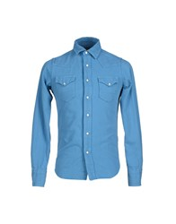 Htc Denim Denim Shirts Men Azure