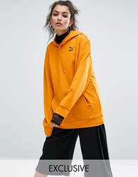 Puma Exclusive To Asos Statement Oversized Hoodie Goldenoak Black Yellow