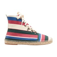 Loewe Espadrille Ankle Boots Pink Green Light Blue