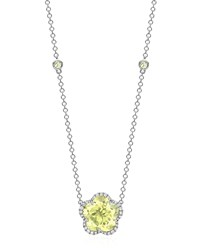 Grace Flower Lemon Quartz And Diamond Necklace Kiki Mcdonough Yellow