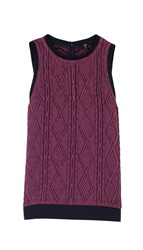 Tibi Cable Jacquard Sleeveless Top