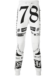 Philipp Plein Olive Track Pants Men Cotton S White