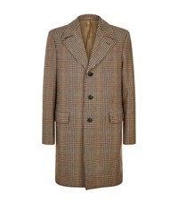 Gieves And Hawkes Heritage Check Wool Overcoat Beige
