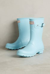 Anthropologie Hunter Original Short Pastel Rain Boots Sky