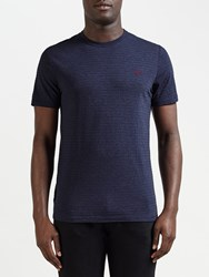 Fred Perry Oxford T Shirt French Navy Marl