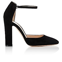 Gianvito Rossi Women's 54 Suede Mary Jane Pumps Black