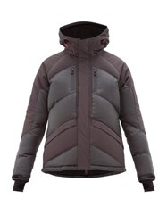 Perfect Moment Ripstop Panel Down Filled Ski Jacket Black Grey