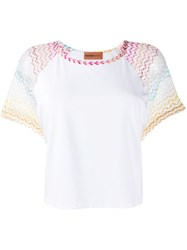 Missoni Mare Knitted Sleeve T Shirt White