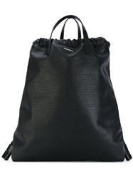 Diesel Handle Applique Backpack Women Calf Leather Polyester One Size