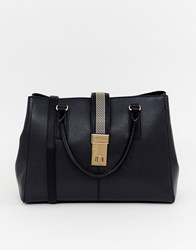 Carvela Chain Tote Bag Black