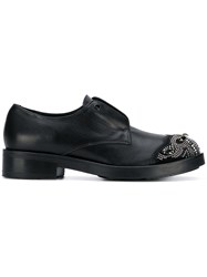 Tosca Blu Embellished Loafers Black