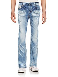 Affliction Cooper Distressed Straight Leg Jeans Newport